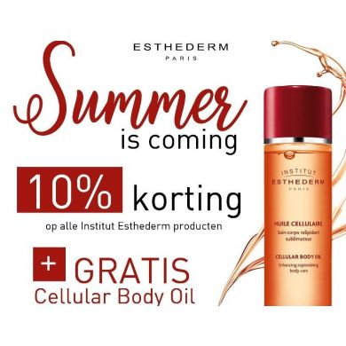 Gratis Cellular Body Oil t.w.v. €39,- bij Institut Esthederm besteding vanaf €200,-